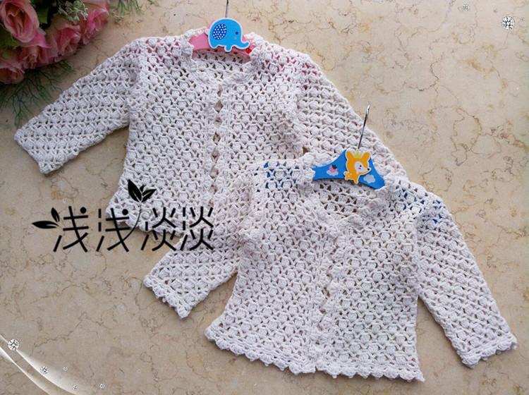 【浅浅淡淡】*听双---宝宝钩针长袖开衫|编织博客