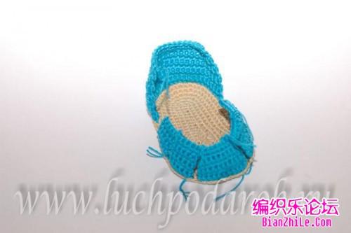 【转载】引用 宝宝凉鞋的钩法步骤图片|编织博客