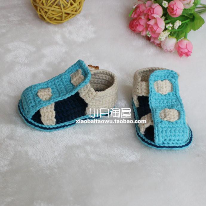 婴儿袜子的钩法步骤