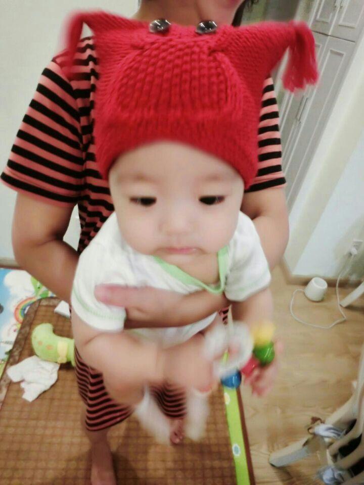 超萌中性猫头鹰帽子 围巾(零基础视频)  美丽诺 适合0--2周岁宝宝
