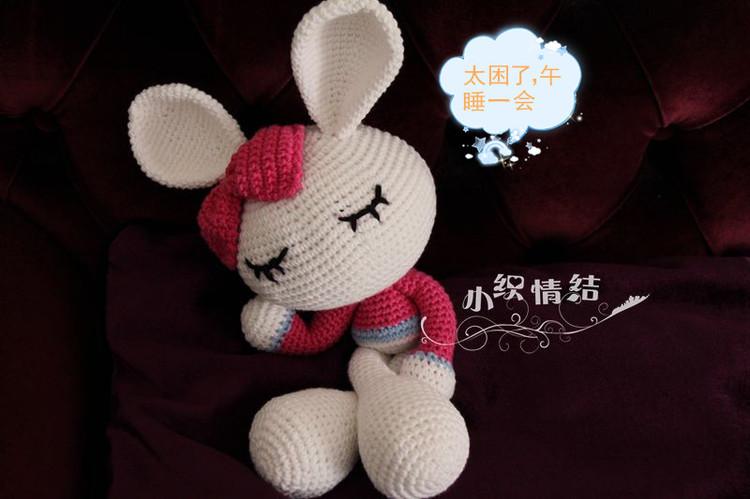 【转载】超萌的蝴蝶结小兔妞(附组合过程图)|编织博客