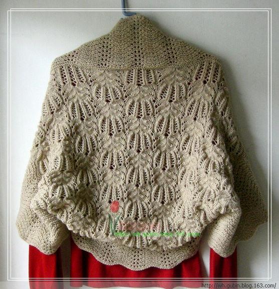 花样袖子披肩|编织博客-编织人生