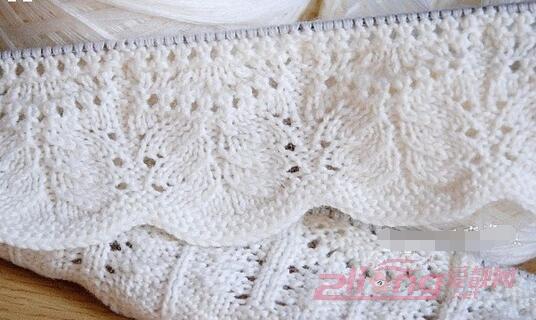 优雅迷人的花边领毛衣编织方法图解|编织博客