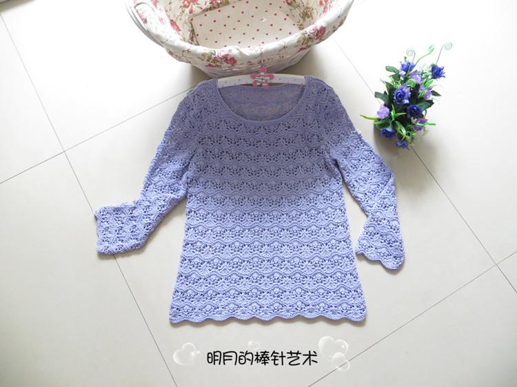 明月手工编织裙子